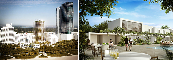Renderings of the renovated Shore Club at 1901 Collins Avenue