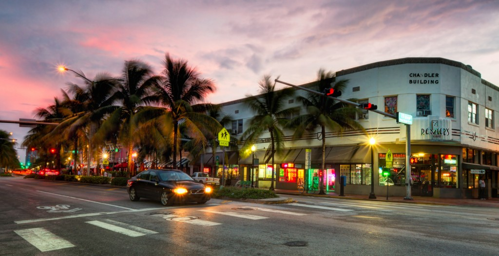 A view of Washington Ave and 15th Street in South Beach in Miami. I was there on the day before storm Isaac hit. There was a bit of rain, but nice for walking around with my camera. This is one of my first night photos with my new Canon EFS 15-85 IS. I like the starbursts it makes. I also tried a new workflow for blending shots. I first aligned them in photoshop using auto-align. Then reduced noise using Neatimage and saved as TIF. Then created the HDR in photomatix, turning off alignment and noise reduction, and blended the photos using the Fusion option rather than my usual Details Enhancement. I think the resulting image is sharper and more natural. I postprocessed in Photoshop using Nik Color Efex (sunlight, procontrast and graduated filters). Curves, dodging and burning and smart sharpen in PS.