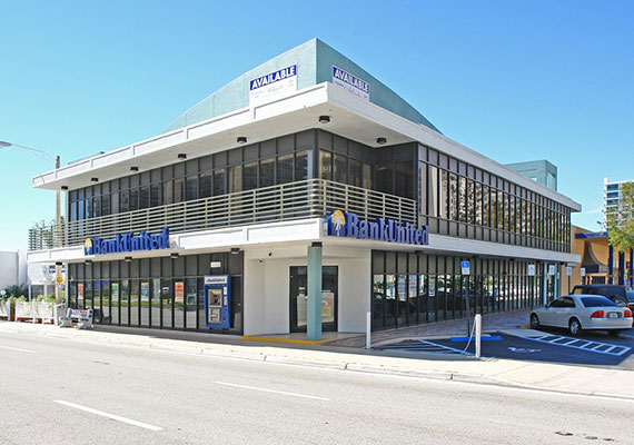 The former Bank United in Fort Lauderdale