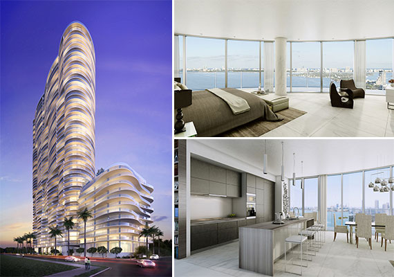 Renderings of Melo Groups' Aria on the Bay project in downtown Miami