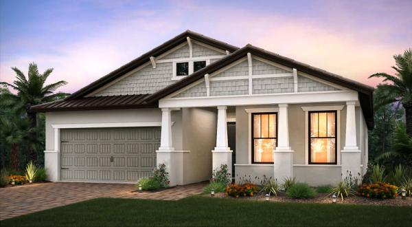 Rendering of the Summerwood model at The Fields residential development west off Lake Worth
