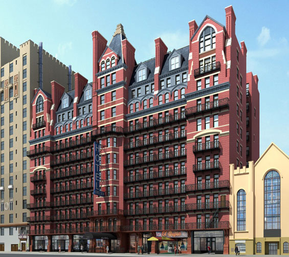 A rendering of the proposed restoration of the Hotel Chelsea