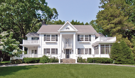 A home at 30 Lookout Circle in Larchmont, N.Y., on the  market for $2.39 million.