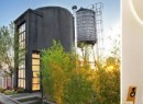 From left: Melanie Lazenby, images of the converted water tower and Dina Lewis