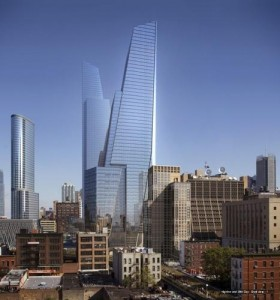 A rendering of the Coach Tower