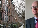 The Bedford-Stuyvesant historic district (credit: Brooklyn Magazine) and LPC Chair Robert Tierney