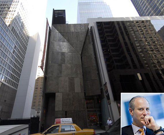 The former American Folk Art Museum in Midtown (Inset: MoMA Director Glenn Lowry)