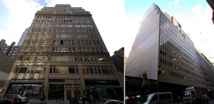 From left: 70 West 36th Street and 127-135 West 33rd Street