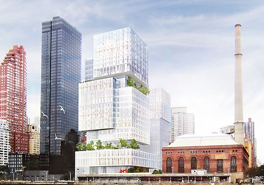 A rendering of a planned health care complex on the Upper East Side