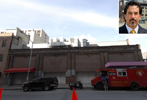 Harlan Berger of Centaur and the site at 526 West 28th Street