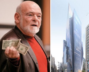 Sam Zell and a rendering of 400 Park Avenue South