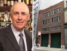 From left: Alfa CEO Michael Namer, the site at 117-119 West 21st Street