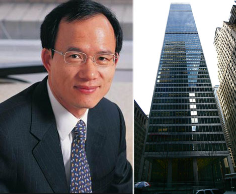 Fosun's Guo Guangchang and One Chase Manhattan Plaza