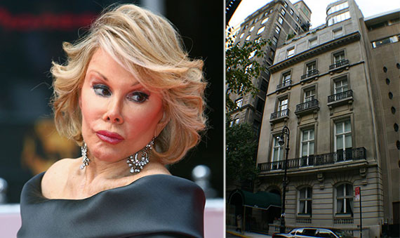 From left: Joan Rivers and 1 East 62nd Street
