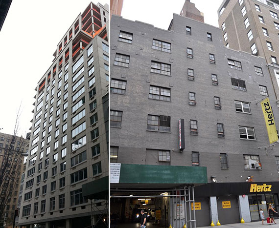 From left: 227 West 77th Street and