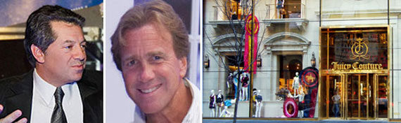 From left: Marc Holliday, Jeff Sutton and Juicy's retail store at 650 Fifth Avenue