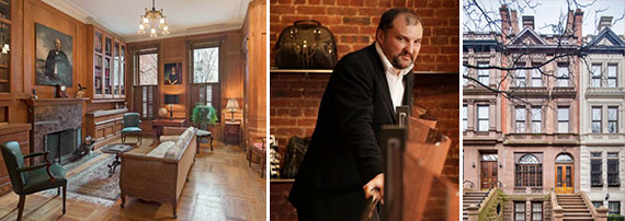 Olivier Cassegrain and the townhouse at 126 West 87th Street