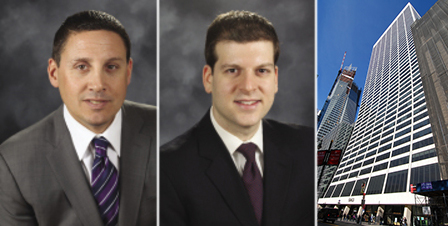 From left: JLL's Alexander Chudnoff, Scott Vinett and 111