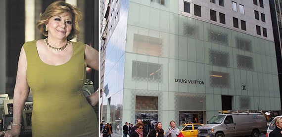 From left: Faith Hope Consolo and Louis Vuitton's Madison Avenue outpost at 1 East 57th Street