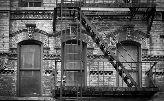 A Manhattan fire escape documented by photographer Bob Estremera (Credit: Curbed via Bob Estremera)