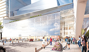 A rendering of retail space at Hudson Yards (Photo credit: Visualhouse)