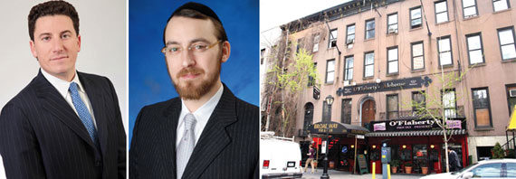 From left: David Schechtman, Lipa Lieberman and 334-336 West 46th Street