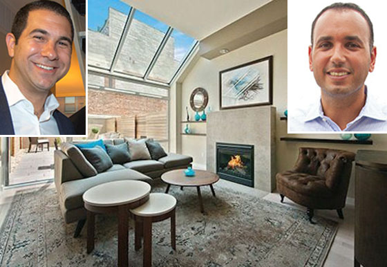 From left: Andrew Barrocas, an interior shot of a unit at Williamsburg Townhomes and Ben Shaoul