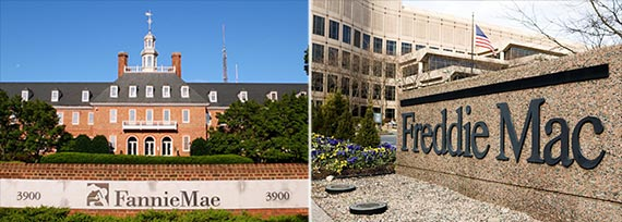 From left: Fannie Mae, Freddie Mac