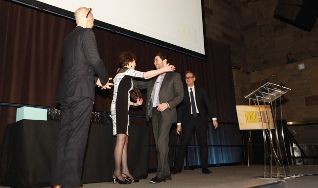 Matthew Leone received award from CEO Diane Ramirez