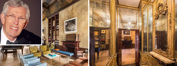 From left: David Deutsch and interior shots of the townhouse at 226 East 49th Street