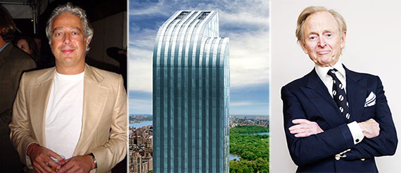 From left: Aby Rosen, One57 and Tom Wolfe