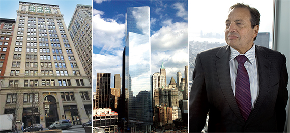 From left: 225 Park Avenue South, 4 World Trade Center and Douglas Durst