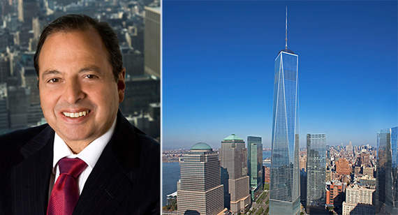 From left: Douglas Durst and 1 WTC