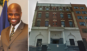From left: DHS commissioner Gilbert Taylor and Aguila Inc office at 661 Cauldwell Avenue, the Bronx