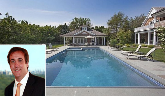 From left: Michael Cohen and 487 Parsonage Lane