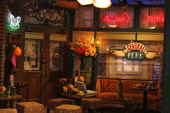 "The set of Central Perk, the fictional coffee shop made famous by ""Friends"""