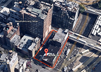 Extell's development site at 429 West 36th Street