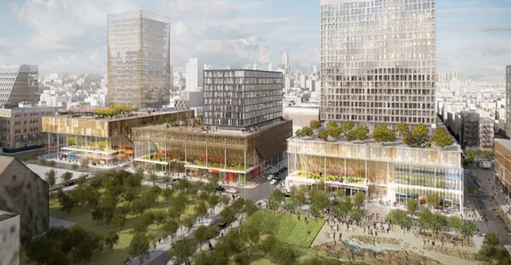 Rendering of Essex Crossing (Credit: SHoP Architects)
