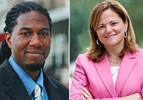 From left: Jumaane Williams and Melissa Mark-Viverito