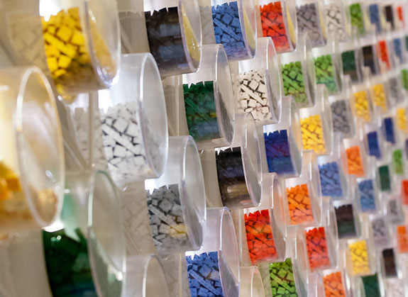 Wall of a Lego Store inside the Mall of America (Credit: Mike via Flickr)