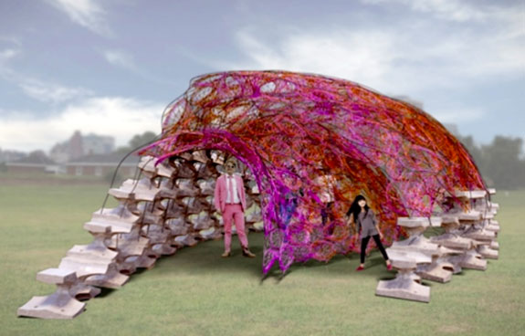 One of the designs vying for a spot on Governor's Island