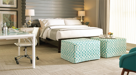 It's the details that make a guest room comfy. Bonus: These Castro Convertibles ottomans also convert into beds.
