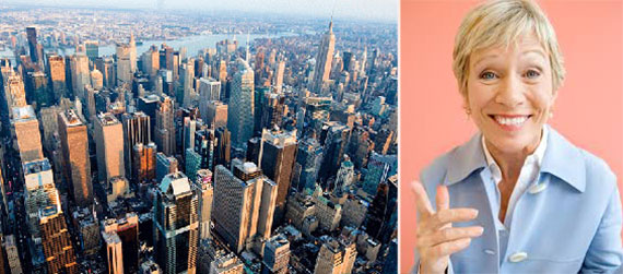 From left: Midtown Manhattan and Barbara Corcoran