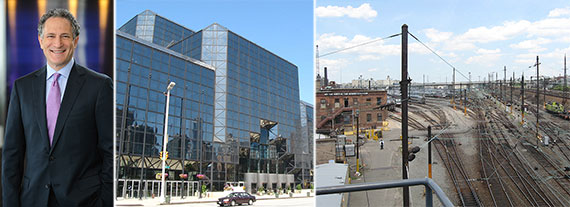 From left: Dan Doctoroff, the Jacob Javits Convention Center and Sunnyside Yards, Queens