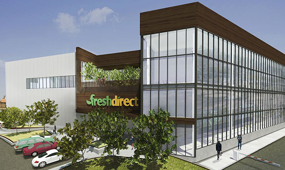 Rendering of the new FreshDirect headquarters in the South Bronx