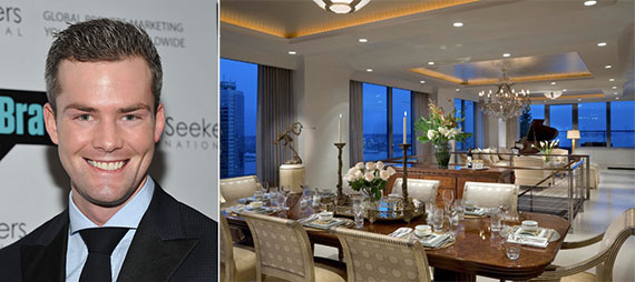 From left: Ryan Serhant and the $118.5 million unit at the Ritz-Carlton in Battery Park City