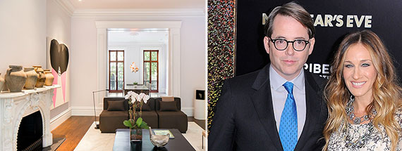 From left: 20 East 10th Street and Matthew Broderick with Sarah Jessica Parker