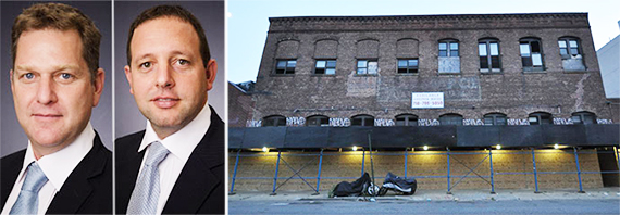 From left: Omri Sachs, Dvir Cohen Hoshen and 308 North 7th Street in Williamsburg