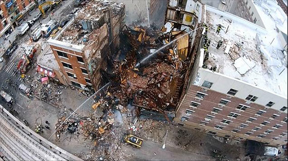 1644 and 1646 Park Avenue in East Harlem after the explosion in March