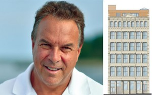 Jeff Greene and a rendering of 62 Wooster Street